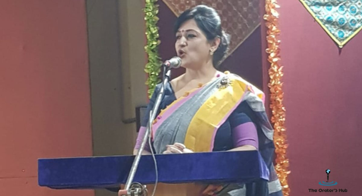 Addressing the Audience on Teacher's Day