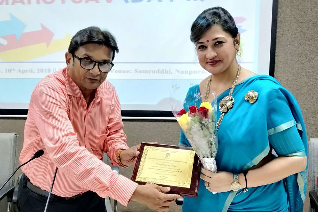 """Appreciation for conducting """"Career Counselling Session"""" at Chamber of Commerce"""